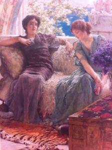 Confidencia inoportuna, Alma-Tadema