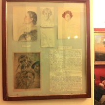 Retratos y manuscrito