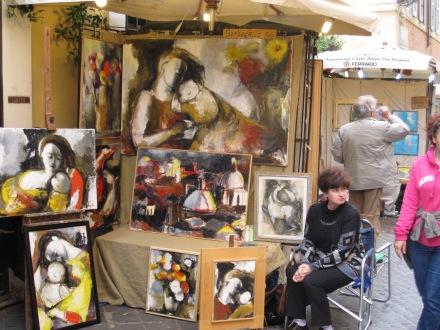 Artista y su obra en Via Margutta