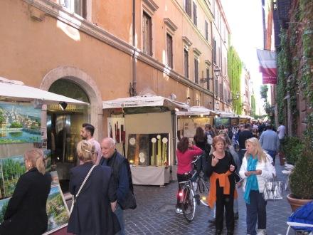 Via Marguta durante la muestra '100 Pittori'