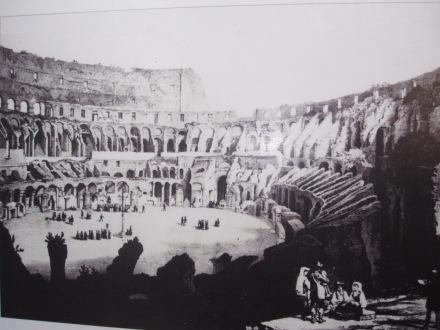 Vía Crucis en el Coliseo a principios del s. XIX. Litografía